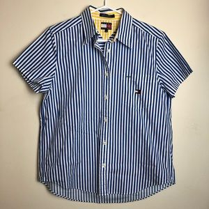 Tommy Hilfiger Size 10 Striped Button Front Shirt